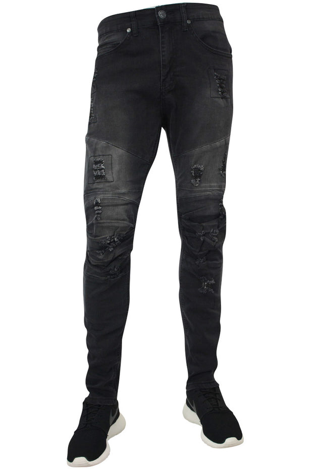 Moto Skinny Fit Denim Black (M4354DA)