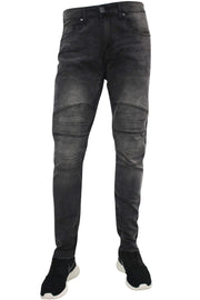 Pressed Knee Skinny Fit Denim Black Wash (M4582DA)