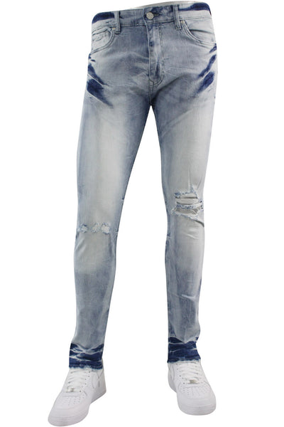 Jordan Craig Open Rip Slim Fit Denim Ice Blue (JM3297 22S)