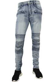 Moto Skinny Fit Denim Bleach Wash (M4462DA) - Zamage