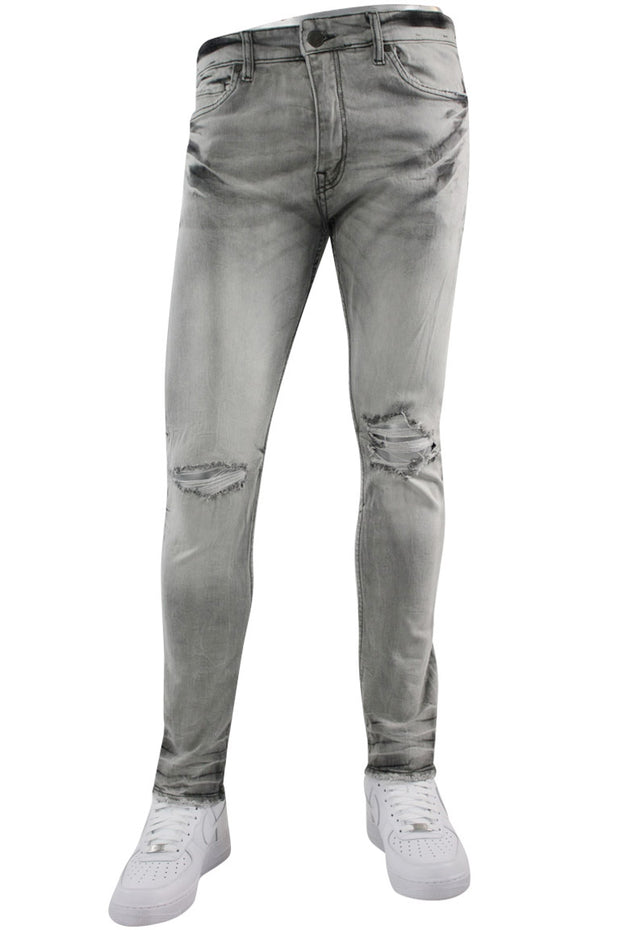 Jordan Craig Open Rip Slim Fit Denim Light Grey (JM3297 22S)