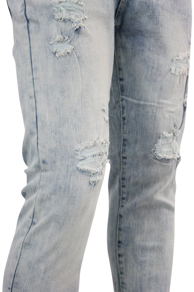 Destroyed Skinny Fit Denim Acid Wash (M4531D) - Zamage