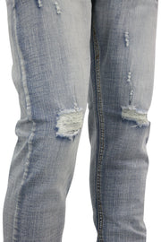 Ripped Fade Skinny Fit Denim Brush Wash (M4569DC)