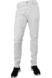 Jordan Craig Shredded Slim Fit Denim White (JM3230) - Zamage