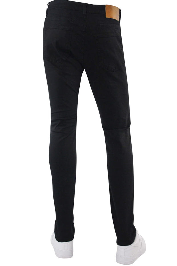 Destroyed Backin Skinny Fit Denim Black (M4673T) - Zamage