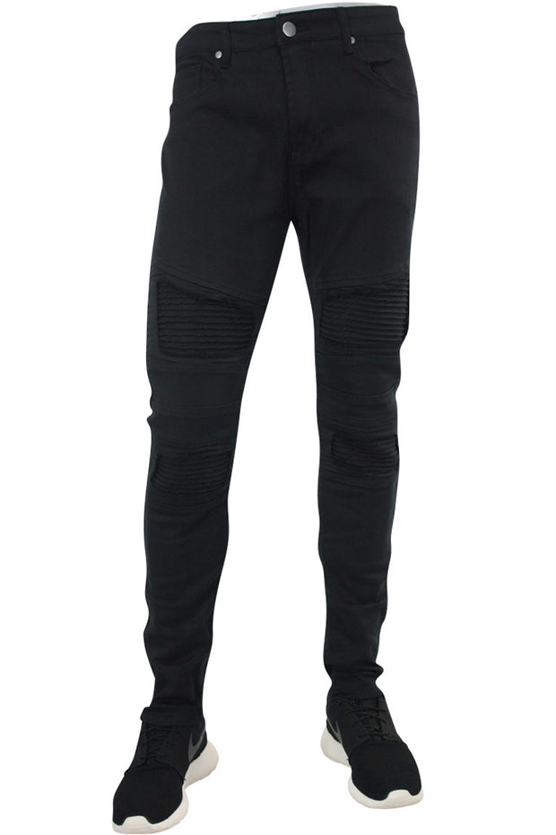 Ribbed Moto Skinny Fit Denim Black (M4433TC)