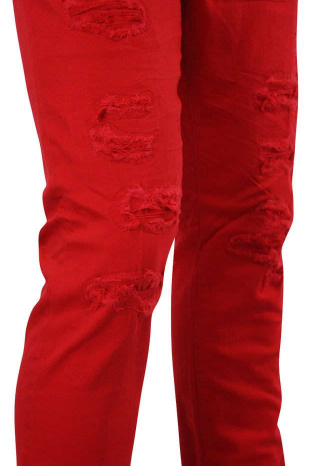Jordan Craig Shredded Slim Fit Denim Red (JM3230)