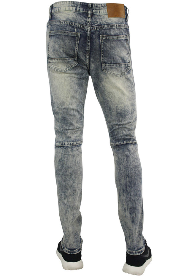 Constructed Moto Skinny Fit Denim Acid Vintage (M4567D) - Zamage