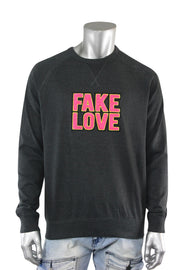 Fake Love French Terry Crewneck Charcoal (8899FT) - Zamage