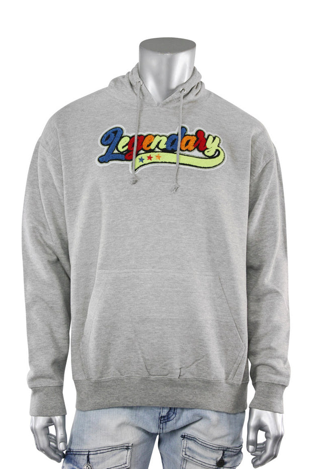 Legendary Chenille Hoodie Heather Grey (1009H) - Zamage