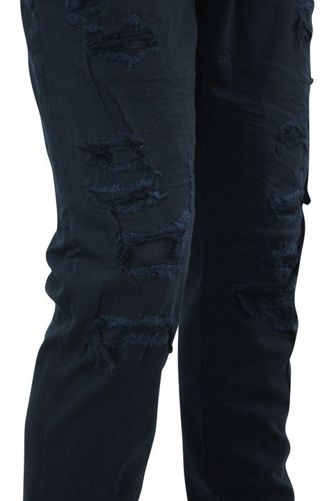 Jordan Craig Shredded Slim Fit Denim Navy (JM3230)