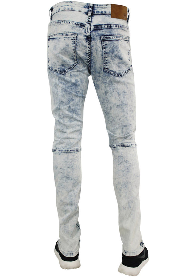 Moto Ribbed Skinny Fit Denim White Wash (M4518DC)