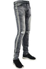 Track Fade Skinny Fit Denim Black Wash (M4586D)