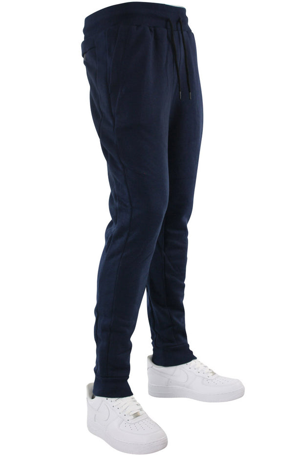 Basic Fleece Joggers Navy (192-451)