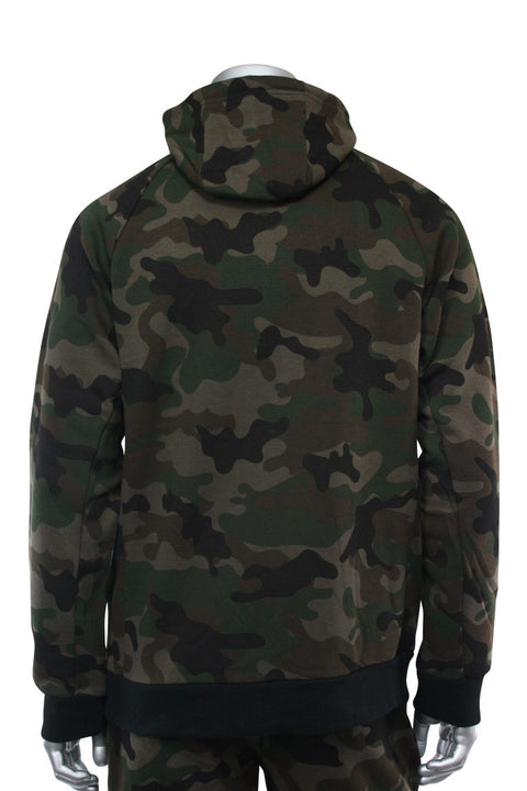 Basic Full Zip Fleece Hoodie Woodland (192-551)
