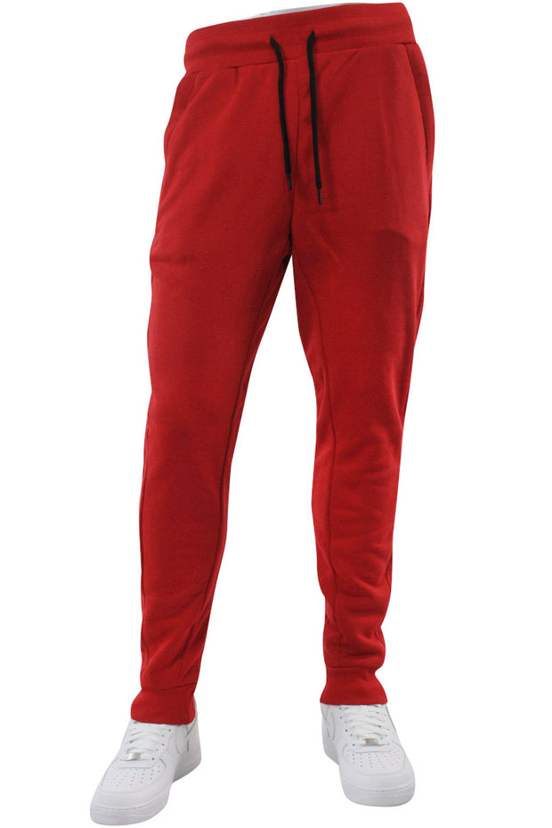 Basic Fleece Joggers Red (192-451) - Zamage