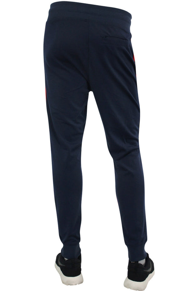 Tech Fleece Jogger Navy - Yellow - Red (82-402 22S)