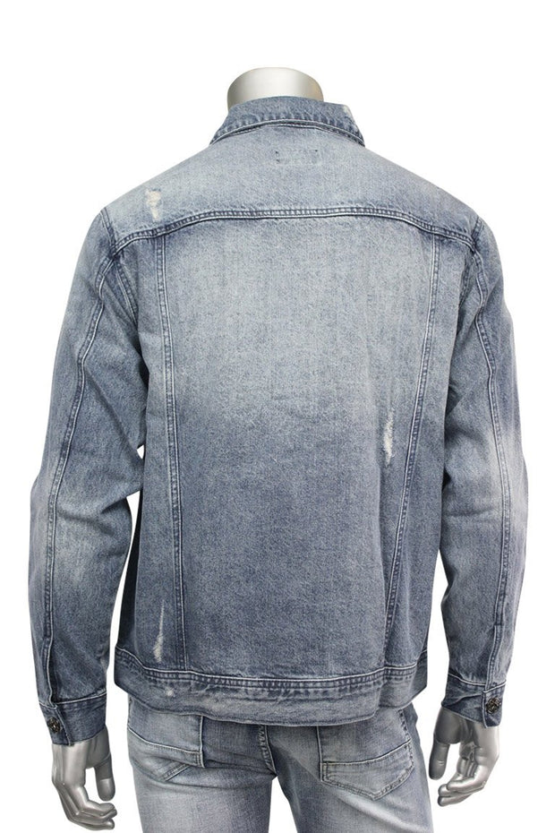 Denim Jacket Brush Wash (M6036D 22S) - Zamage
