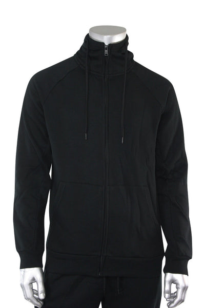 Basic Full Zip Fleece Hoodie Black (192-551)