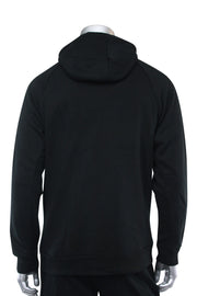 Basic Full Zip Fleece Hoodie Black (192-551) - Zamage