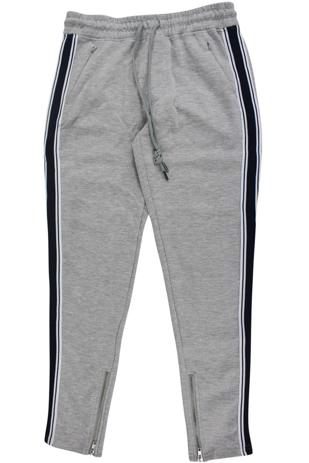 Boy's Striped Athletic Jogger Grey - Dark Navy (8M4397DJ) - Zamage
