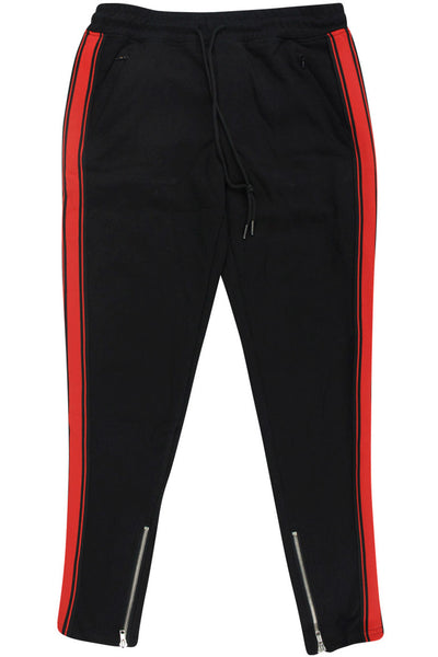 Boy's Striped Athletic Jogger Black - Red (8M4397DJ) - Zamage