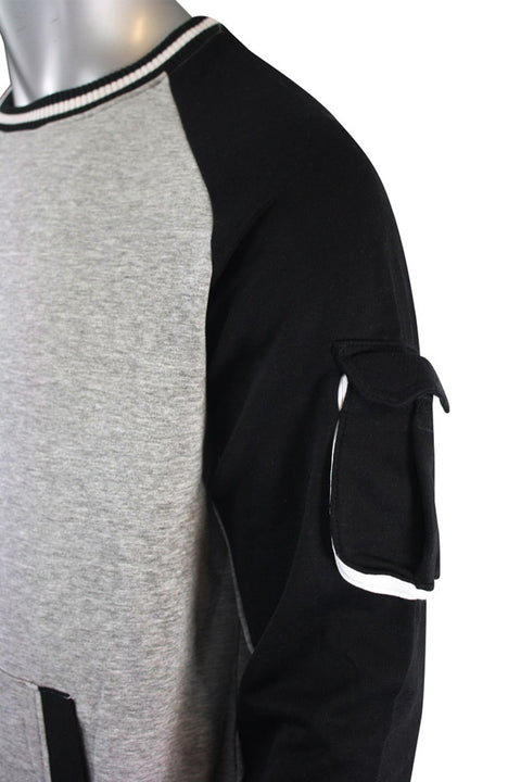 Long Sleeve Velcro Tape Pullover Heather Grey (SF9206)