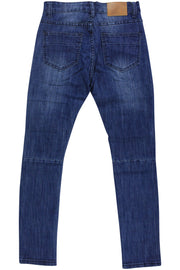 Boy's Moto Skinny Fit Denim Indigo Wash (8M4249D) - Zamage