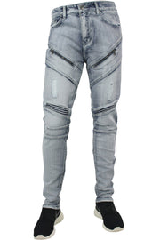 Distressed Skinny Fit Denim Cloud Wash (M4333DB) - Zamage