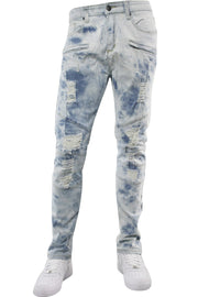 Moto Pieced Skinny Fit Denim Tie Dye Wash (M4658D)