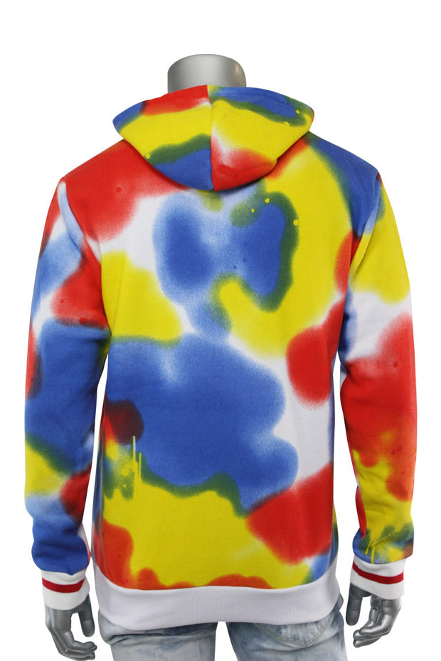 Drippin Multi Color Hoodie White (192-326)