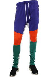 Tricot Track Pants Green - Orange - Purple (JP9180)