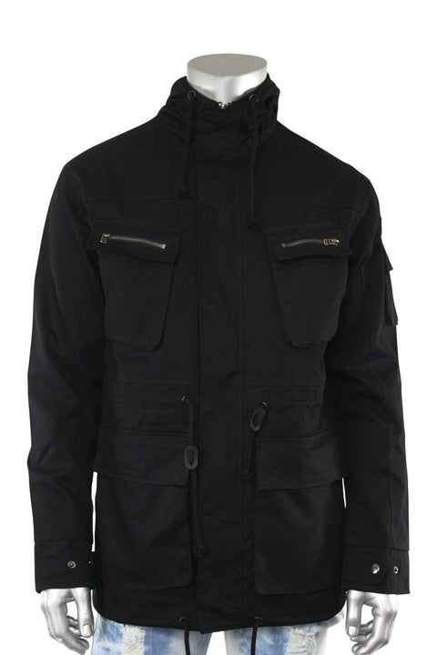 Twill Quest Jacket Black (192-537 22S) - Zamage