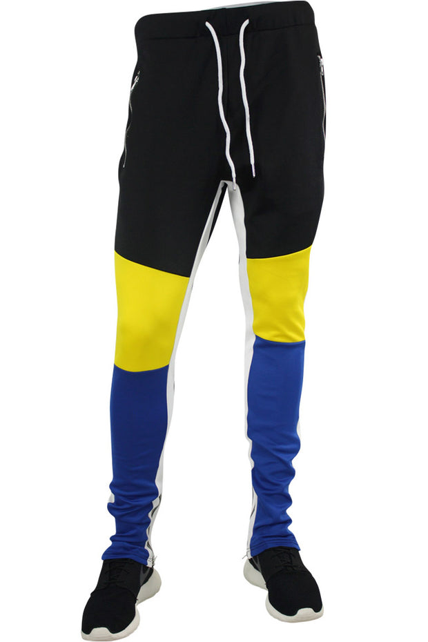 Tricot Track Pants Royal Blue - Yellow - Black (JP9180)