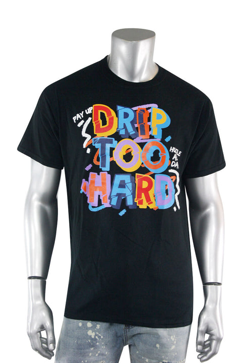 Drip Too Hard Sketch Tee Black (2311)