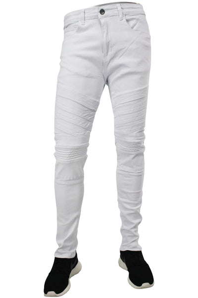 Twill Moto Slim Fit Denim White (M4455TB)