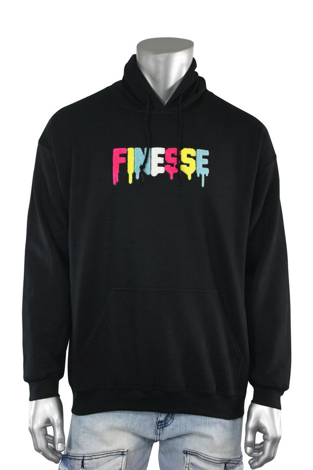 Finesse Chenille Hoodie Black (8688H)