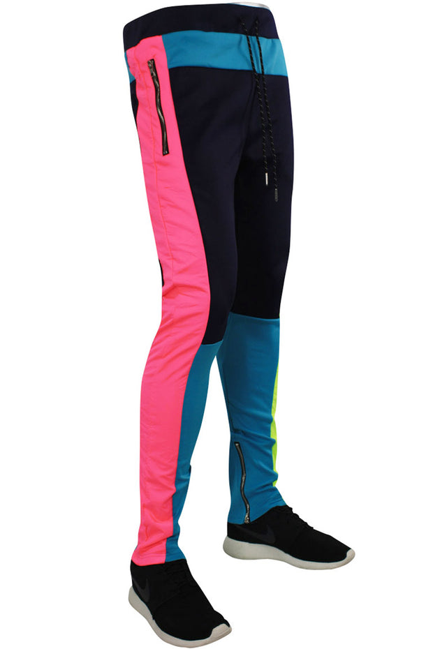 Tricot Nylon Track Pants Teal - Navy - Neon (JP9195)