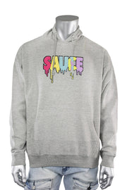 Sauce Chenille Hoodie Heather Grey (9019H) - Zamage
