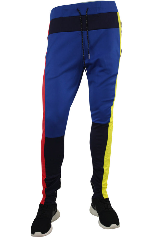 Tricot Nylon Track Pants Navy - Red - Yellow (JP9195)