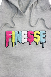 Finesse Chenille Hoodie Heather Grey (8688H) - Zamage