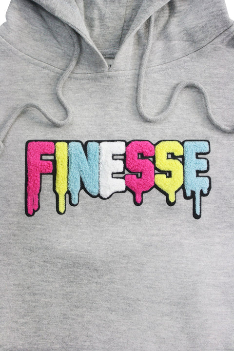 Finesse Chenille Hoodie Heather Grey (8688H)