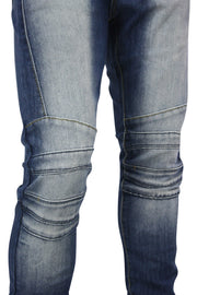 Faded Skinny Fit Denim Medium Wash (M4485D) - Zamage