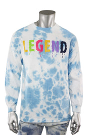 Legend Tie Dye Long Sleeve Tee Blue (9189TDL) - Zamage