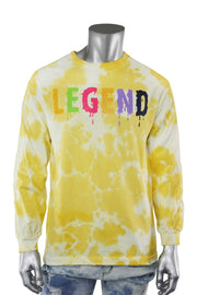 Legend Tie Dye Long Sleeve Tee Yellow (9189TDL) - Zamage