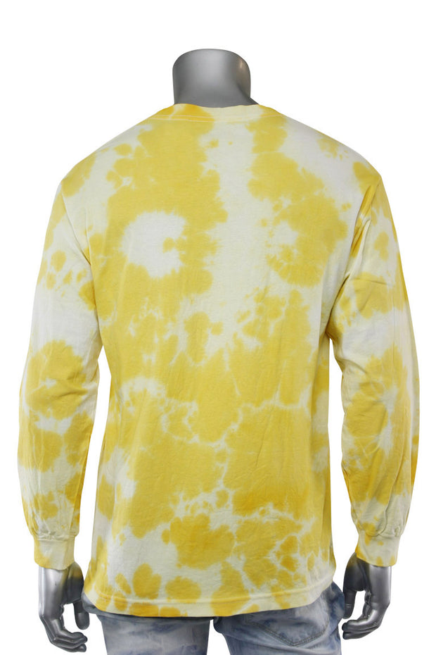 Legend Tie Dye Long Sleeve Tee Yellow (9189TDL)