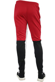 Side Stripe Color Block Track Pants Red - Black - White (M4515PS)