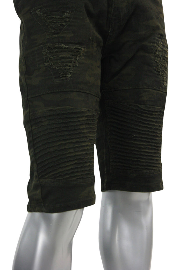 Moto Rip Denim Shorts Camo (M7154T)