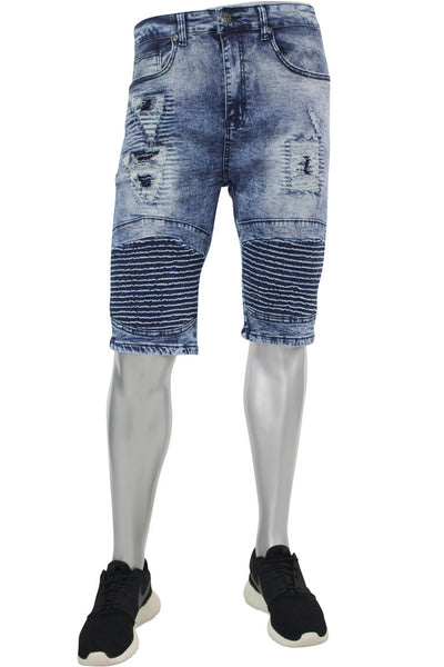 Moto Rip Shorts Blue Grey Wash (M7154D)