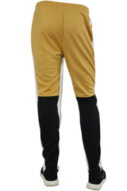 Side Stripe Color Block Track Pants Mustard - Black - White (M4515PS)